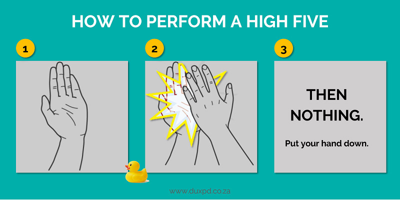 Dux-Student-Support-How-to-do-a-high-five