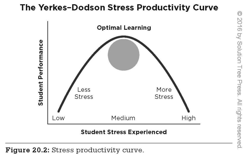 The Yerkes-Dodson Stress Productivity Curve
