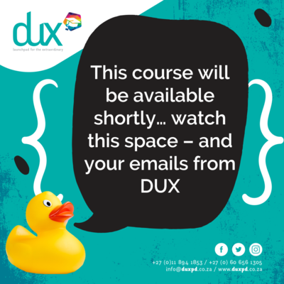 This course will be available shortly - watch this space!