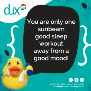 You are only one sunbeam good sleep workout away from a good mood