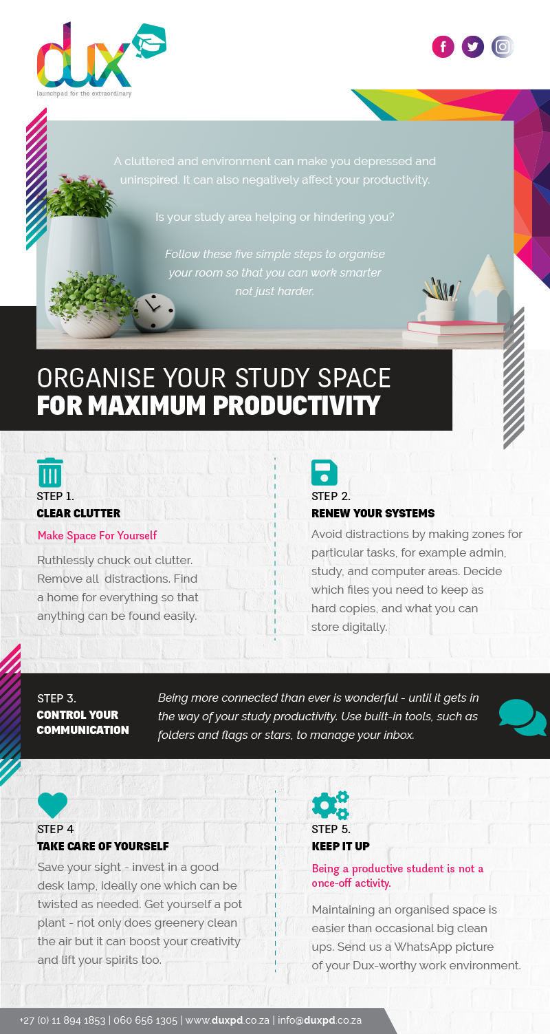 Organise your workspace Self Motivation